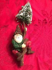 Gnome on tree Christmas ornament