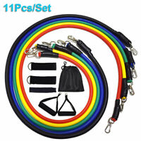 Resistance Bands Workout Exercise Yoga Crossfit Fitness 11Pcs Set Training Tubes