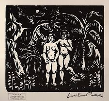 Emile Othon FRIESZ (1879-1949) Woodcut, Estate signed, ltd, Adam & Eve 1, 1910