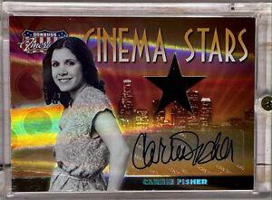 2007 Donruss Americana Cinema Stars HOLO MATERIAL AUTO CS-4 Carrie Fisher 01/25