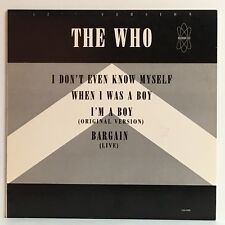 """The Who I DON'T EVEN KNOW MYSELF 1985 MCA promo 12"""" Maxi-Single wlp Minty"""