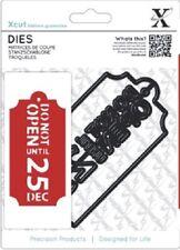 Xcut regalo de navidad etiqueta plantilla (1 pieza)