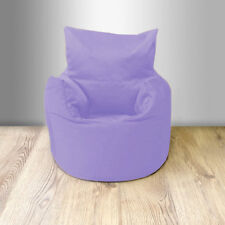 Lilac Cotton Children's Kids Toddlers Filled Beanchair Bean Bag Chair with Beans
