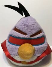 """2012 Angry Birds Space Lazer Bird Purple Red Cape Plush 8"""" Pre-Owned"""