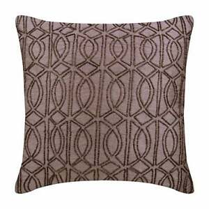 Luxury 20x20 inch Purple Toss Pillow Cover, Silk Trellis - The Class Effect