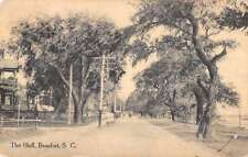 Beaufort South Carolina The Bluff Street Scene Antique Postcard K24835