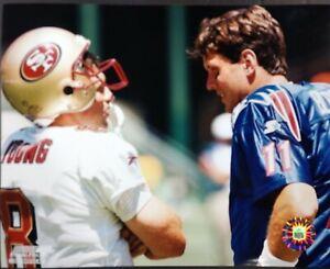STEVE YOUNG / DREW BLEDSOE 8X10 PHOTO  San Francisco 49ers / Patriots