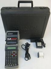 Brady Tls2200 V404 Portable Label Maker Printer Battery Charger And Case