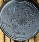 "LODGE Wildlife BEAR Cast Iron Skillet 12"""