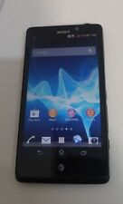 Sony Xperia T (LT30at) 16GB - (AT&T) Black - CLEAN IMEI - MISSING BOTTOM DOOR