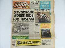 UK Motor Cycle Newspaper July 1977 Road Race Honda CB750 Suzuki Honda L1127