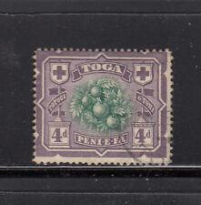 Tonga 1897 4d fine used - sideways watermark