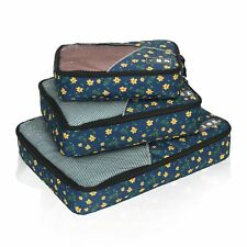Hynes Eagle Travel Packing Cubes 3 Pieces Value Set Yellow Flower