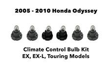2005- 2010 For Honda Odyssey EX EX-L Dash Panel Climate Control Light 6 Bulb Kit
