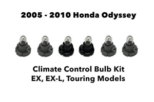 For Honda Odyssey (Set of 6 Bulbs) Heater A/C Climate Control Light Bulb Kit