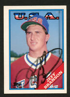 Jeff Branson #19T signed autograph auto 1988 Topps Baseball Trading Card