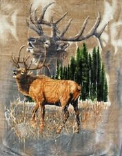 "ELK CALLS New QUEEN SIZE 79"" X 95 SOFT Warm Heavy Weight Bedroom Bed BLANKET"