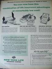 1954 New York Life Insurance Remarkably Low Cost Ad