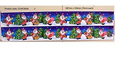 CHRISTMAS SANTAS WINDOW DECORATION STATIC CLING STICKERS (Product code:CCWCS005)