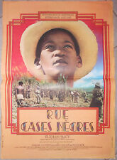Affiche RUE CASES NEGRES Euzhan Palcy GARRY CADENAT Afrique 40x60cm