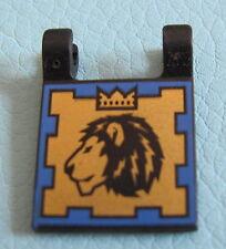 LEGO 2335pb006 @@ Black Flag 2 x 2 Square, Dual Pattern, Scorpion and Lion