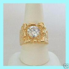 ELVIS TCB JEWELRY CLASSIC VERMEIL 70'S NUGGET SOLITAIRE RING