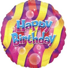 "18"" Amscan Happy Birthday Bubbles Foil Helium Balloon"