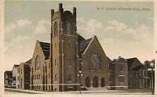 M.E. Church in Webster City IA Postcard 1918