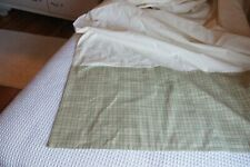 Sonoma Sage Green and Light Gold Plaid Tailored Eastern King Bed Skirt