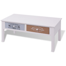 Coffee Table Wood Drawers Storage Furniture Side Couch End Tables Drawer Print