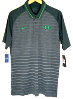 Nike Men's Oregon Ducks Dri Fit Polo NCAA Golf Football Shirt Striped New NWT