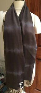 NWT Colombo Brown 100% Cashmere Unisex Fringed Muffler