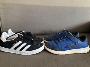 Adidas Gazelle 12K and Nike Free 12.5C