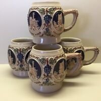 Gerzit ~ Germany // Set Of Four Pottery Cups // Made In Germany