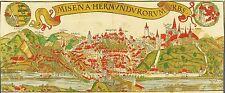 MEIßEN / MEISSEN - Vogelschau - Sebastian Münster - kolor. Holzschnitt 1558