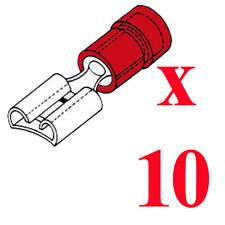 10 Cosses Femelle 2,8 MM Couleur Rouge pour Câble de 0,5 à 1 mm²