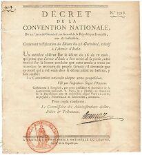 MERITE NATIONNAL, bel ensemble de 11 décrets Révolution