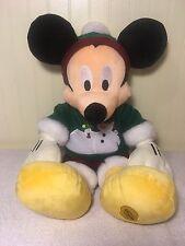 "Plush Mickey Mouse Disney Store Christmas Snowman Sweater Tree Toy Stuffed 17"""