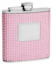 6 oz Pink Crystal Flask for Women - Personalized for FREE