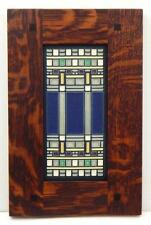 Framed Arts and Crafts Motawi 4x8 Martin House Tile Frank Lloyd Wright E221