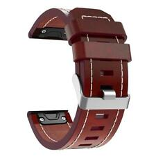 Leather Thread Watch Band Bracelet Strap 26mm for Garmin Fenix 3 Fenix 5X hv2n