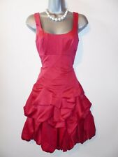 Impresionante Noche Ocasión Monzón Rojo Carmel Colmena de dama vestido Talla 8