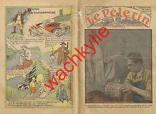 Le pèlerin n°2887 du 24/07/1932 Timbre Semeuse Scaphandrier Pieta Sainte-Baume