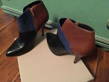 Women San Marina Volana Leather boots three tone color size 39 EU 8.5 US EUC