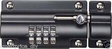 Sterling Combination Code Lock Sliding Door Bolt for Gates Doors Sheds 110mm