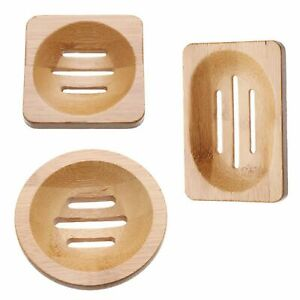 Home Wash Shower Bathroom Outdoor Container Soap Dish Box Bamboo Box Soap Tray