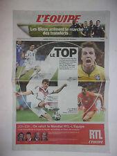 L'EQUIPE 6 JUILLET 2014 WORLD CUP BRASIL / LE TOP 4