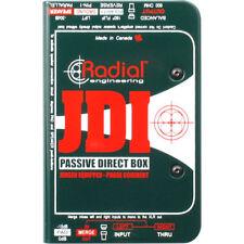 Radial Engineering JDI Passive DI for Acoustic Guitar, Bass & Keyboard New