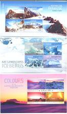 Australian Antarctic Territory-Colours/Mountains/Icebergs min sheets cto-f/used