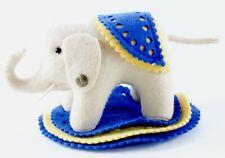 """Steiff Filzelefant Elephant Museum Collection 5.5"""" Long W/ Button ca 1980s"""